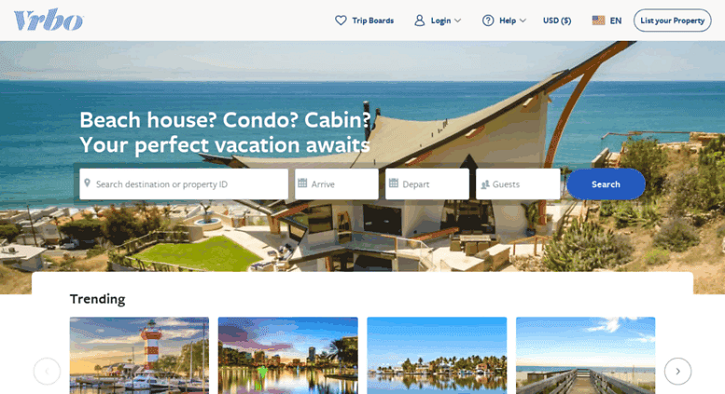 Book your vacation rentals: cottages, studios, villas &more