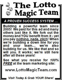 Lotto Magic Team 3 inch - newspaper type - offline advertising