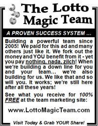 Lotto Magic Team 3 inch - newspaper type - offline advertising