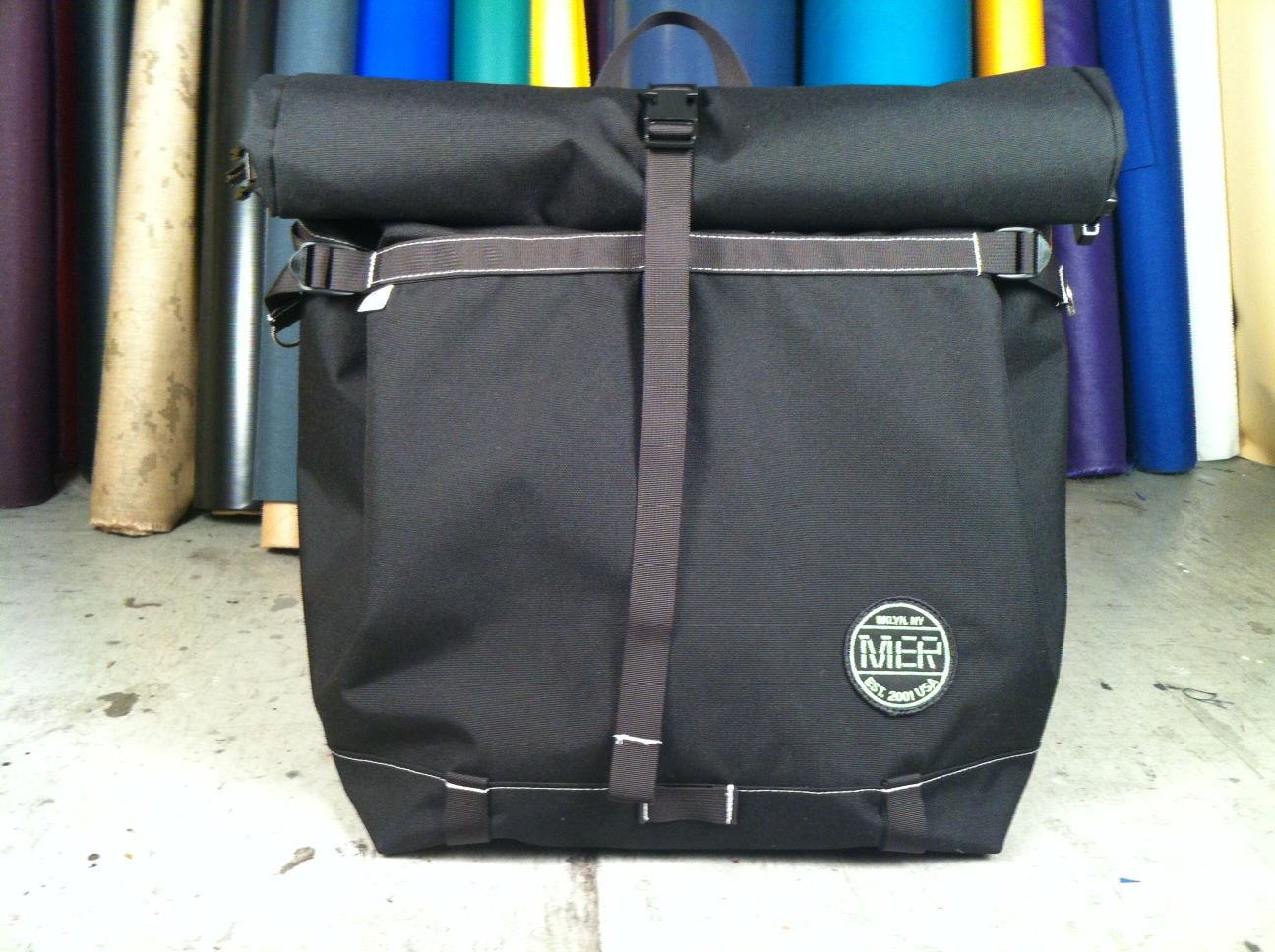 8fc86fd564db XL BASIC BACKPACK (ROLLTOP) BLACK NAVY GRAY. Posted by MER BAGS ...