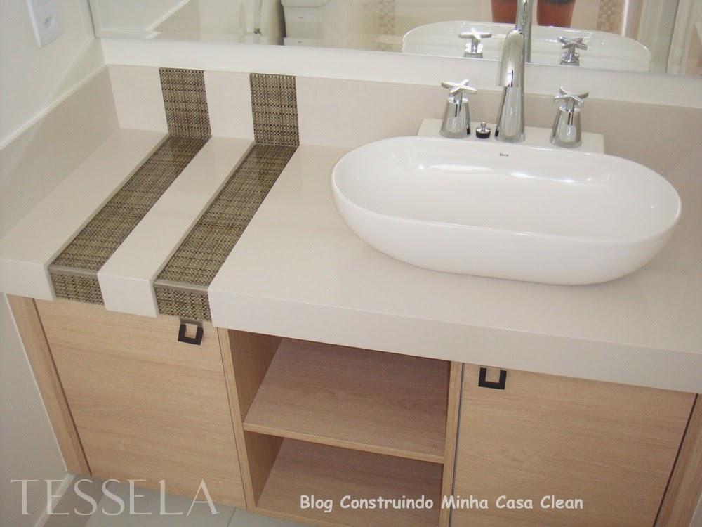 Construindo Minha Casa Clean A Beleza das Bancadas de Porcelanato! -> Bancada De Banheiro Com Pastilha De Vidro