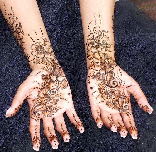Beautiful Arm Mehndi Designs : Arabic arm mehndi desings