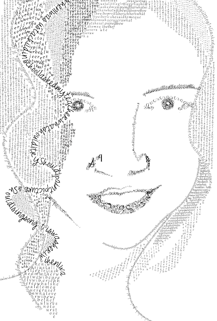 Self Portrait Typographic Portrait Eileen Gano