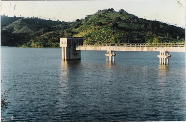 Barragem de Pedra Fina que abastece toda região