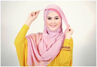cara memakai jilbab1
