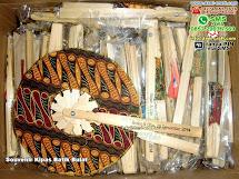 Souvenir Kipas Batik Bulat BambuBatik Bandar Lampung