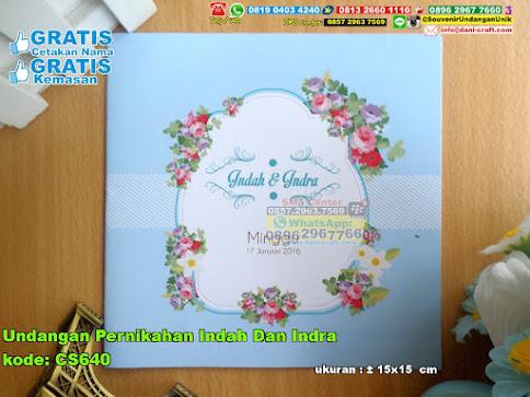 Undangan Pernikahan Indah Dan Indra