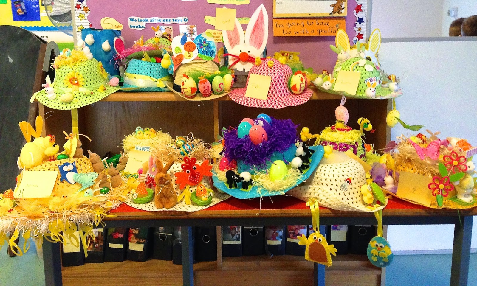 Decorated Easter bonnets
