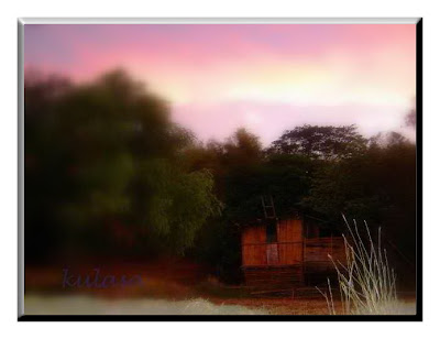 shack at twilight