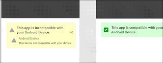Aplicaciones incompatibles en Android