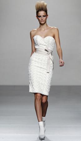 vestido blanco Juana Martín otoño invierno 2011 2012