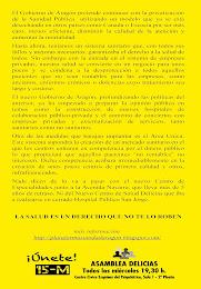 NO A LA PRIVATIZACIÓN Y A LOS RECORTES EN LA SANIDAD