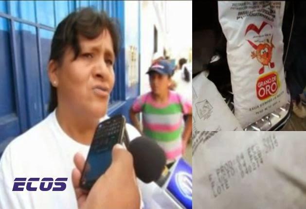 Madres denuncian que les entregaron bolsa de avena con fecha vencida
