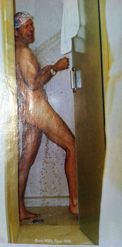 Bruce willis shower nude pic