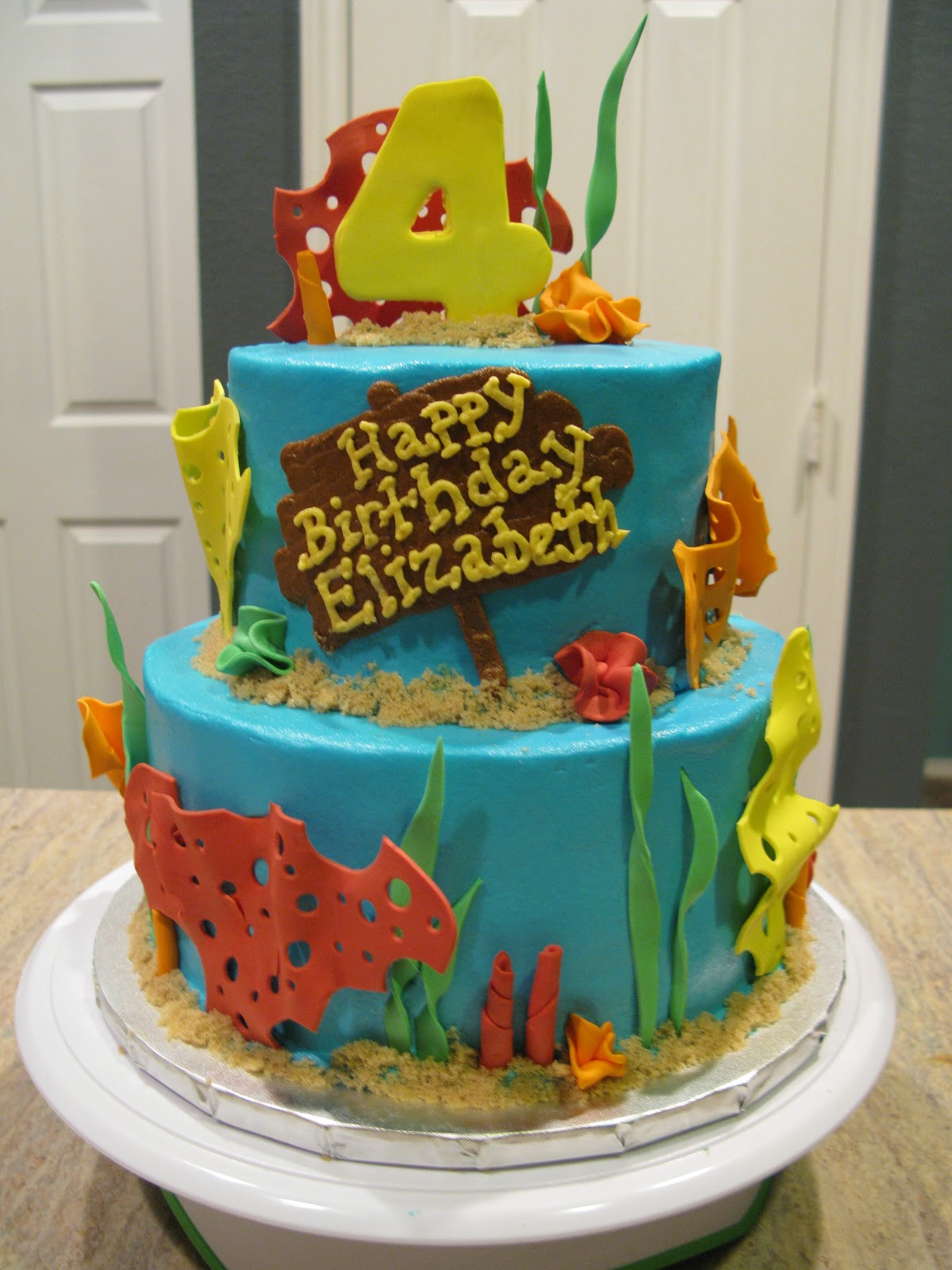 A Counselors Confections Under The Sea Birthday Cake