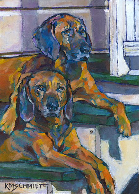 Just animal pet art paintings by louisiana artist karen for Dog painting artist