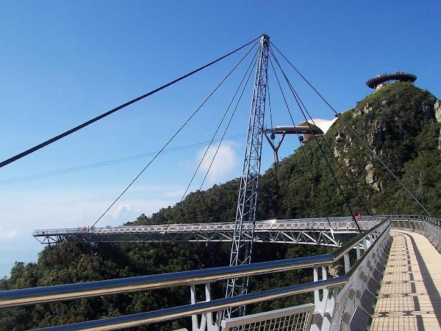langkawi, pulau langkawi, malaysia, suspended, hanging, bridge, sky bridge
