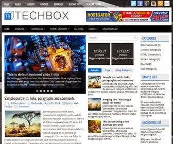 TechBox Blogger Template Yang Responsive