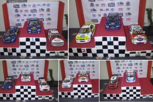 Diferentes podios del croatia rally, campeonato slotdamian 2015.