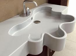lavabo design deco salle d'eau lavabo blanc original