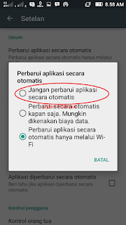 cara mematikan auto update playstore android