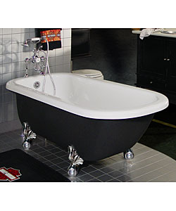 Fresh coat of paint how to paint a clawfoot tub - Painting clawfoot tub exterior paint ...