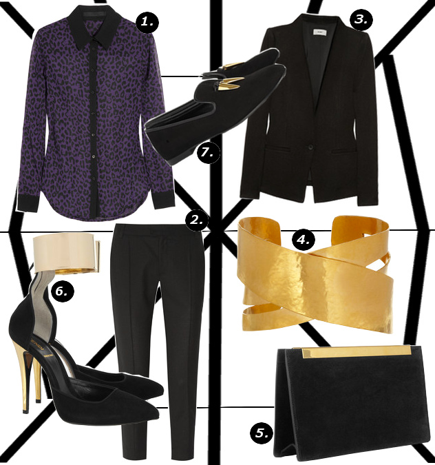 womens fall 2013 menswear inspired theme outfit collage