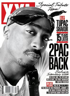 >Tupac Shakur en couv' du mag XXL