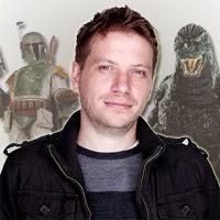 Gareth Edwards con Godzilla y Boba Fett