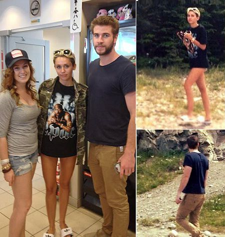 Miley Cyrus found Pant less in Canada