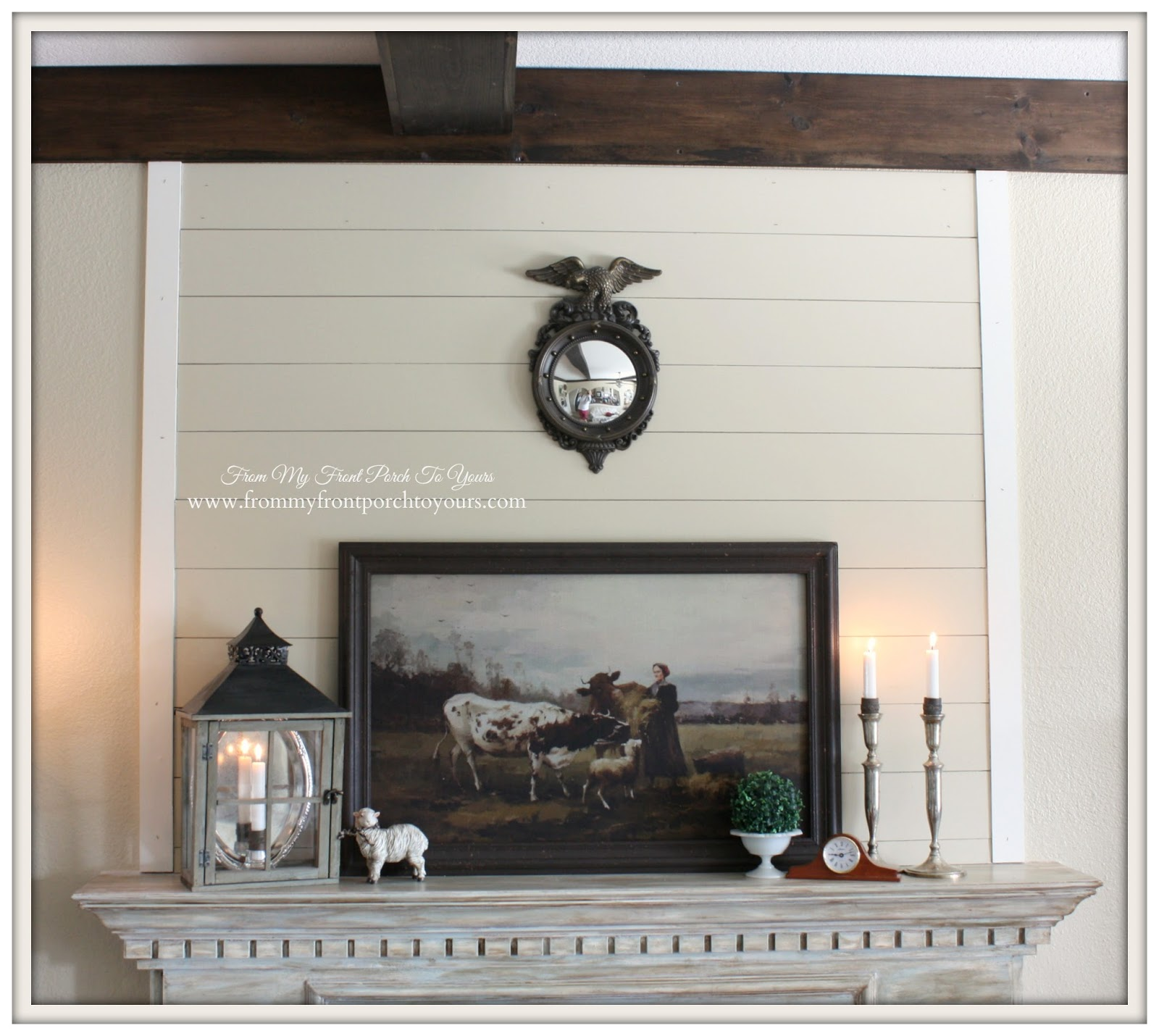 French Country Mantel Vignette- From My Front Porch To Yours