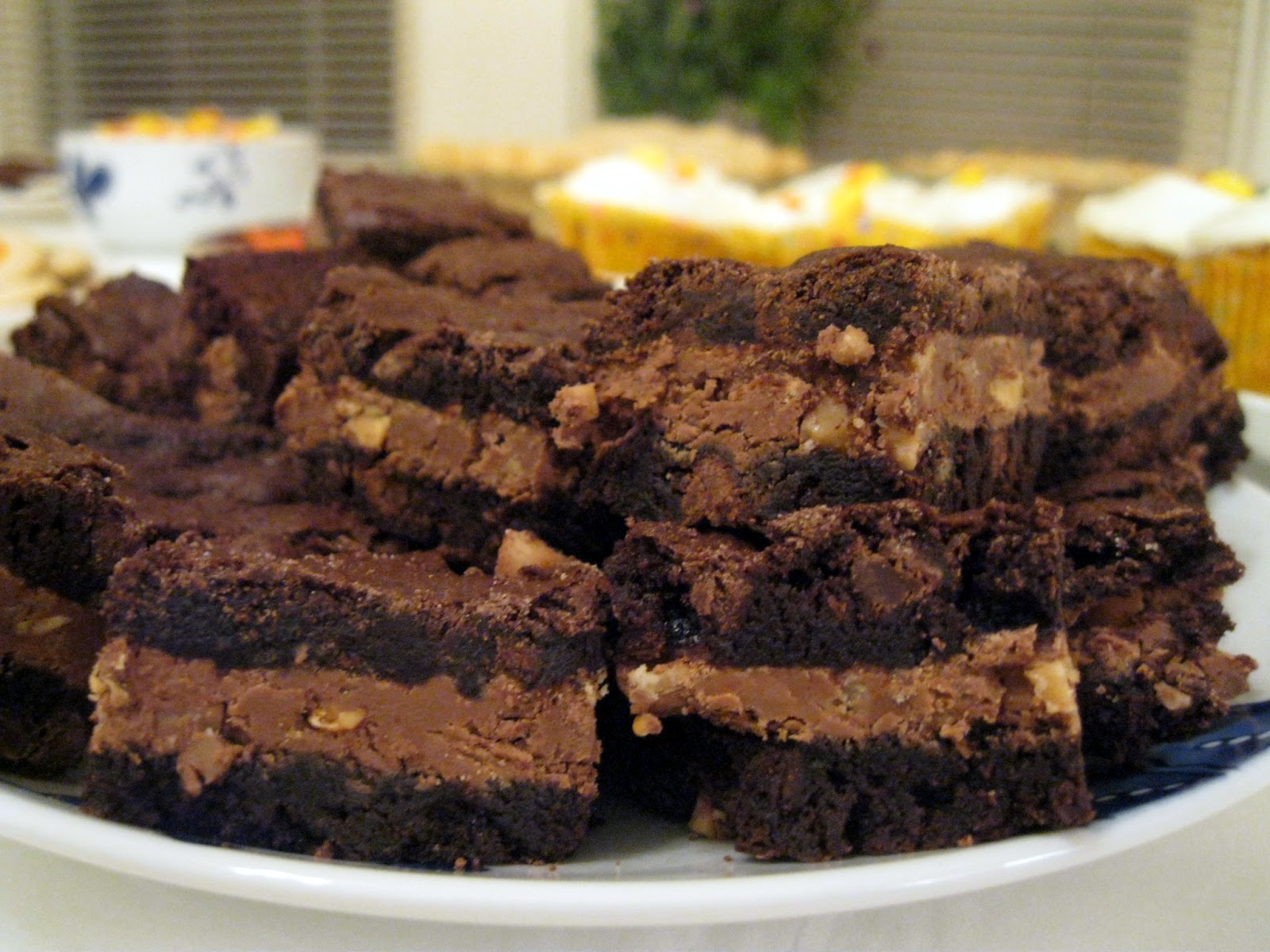 Plate Of Brownies Symphony bar brownies with