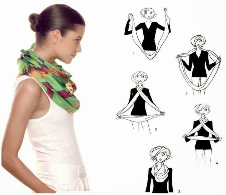 5 фотоинструкций: Как оригинально завязать платок