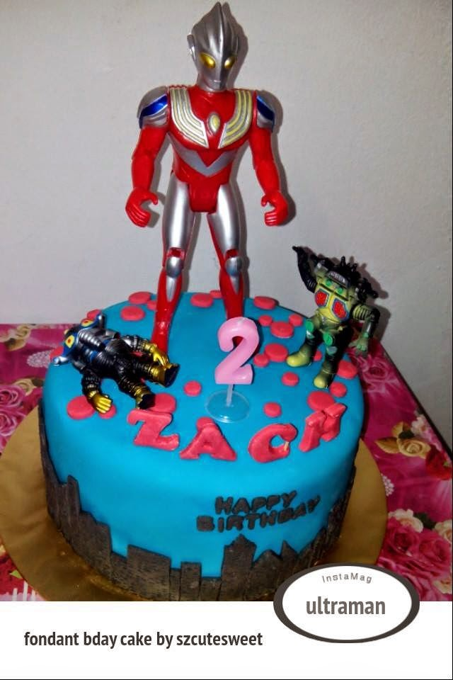 ultraman birthday cake