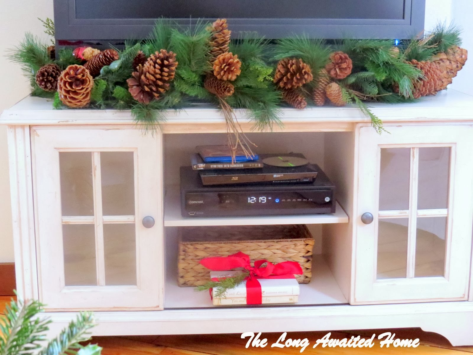 TV Stand   Homegoods. The Long Awaited Home  Christmas in the Family Room