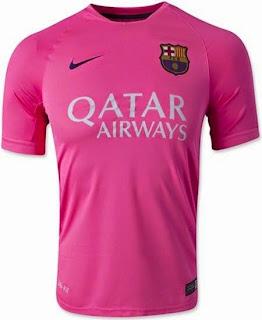 jersey barca, barcelona training kit, grade ori, thailand. pink, merah muda, jersey barcelona home, away, third, jual online, toko online baju bola terpercaya
