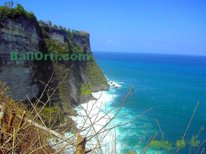 Beautiful scenery in Uluwatu viewed from the west