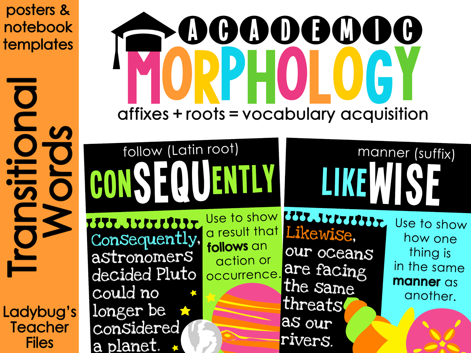 http://www.teacherspayteachers.com/Product/Academic-Morphology-Transitional-Words-Posters-Notebook-Templates-1034697