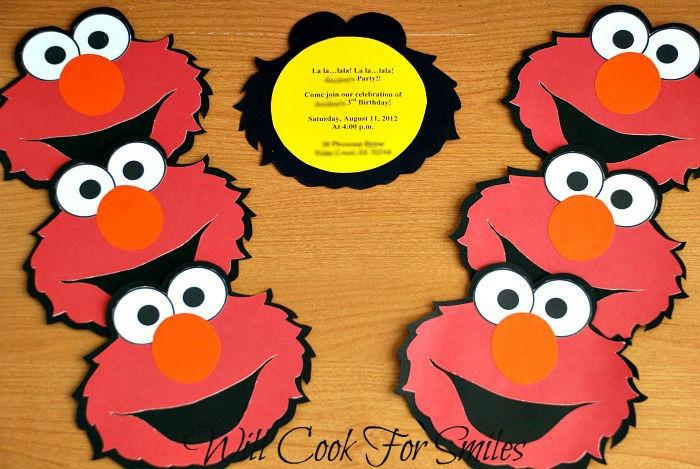 Elmo birthday invitations gluenglitter will cook for smiles save filmwisefo Choice Image