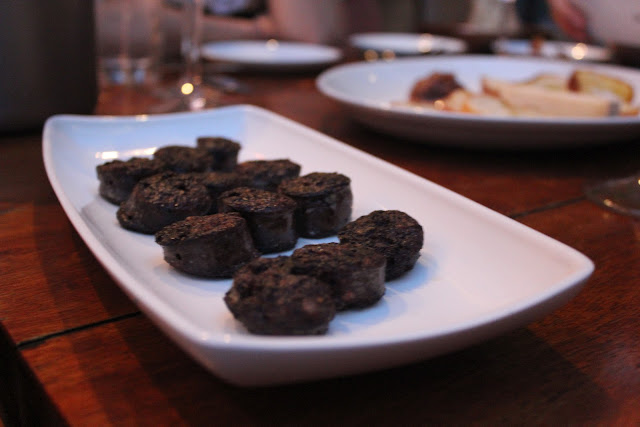 Blood sausage at The Blue Room, Cambridge, Mass.