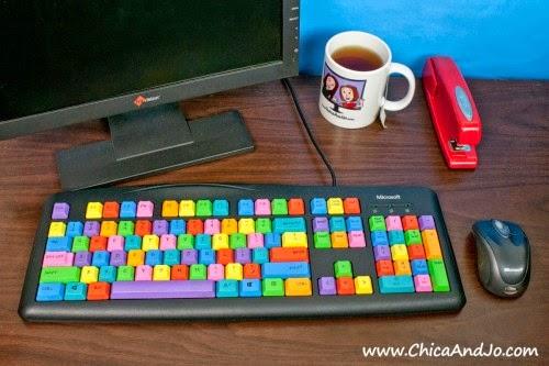Pintar un teclado de ordenador en Recicla Inventa