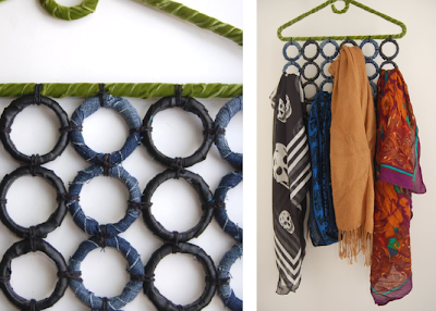 Studs and Pearls: DIY Scarf Hanger