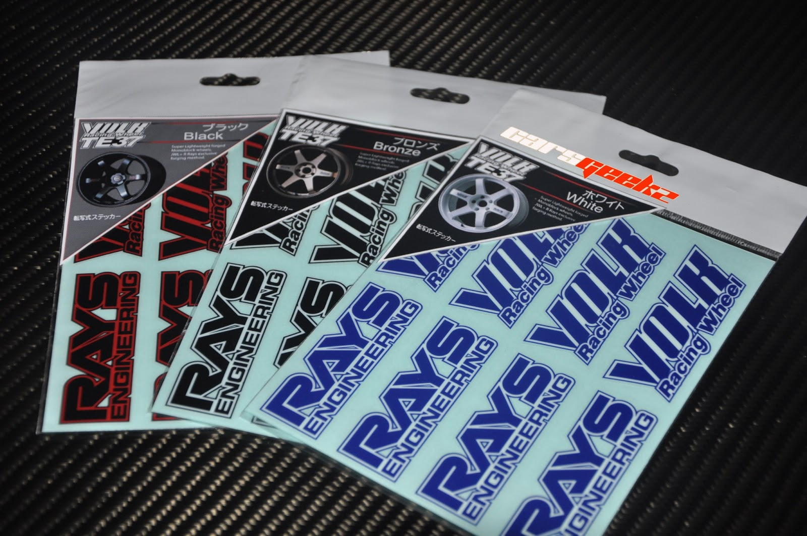 time attack volk rays black edition sticker / decal / vinyl