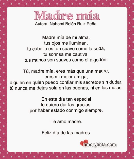 Gracias Madre Poemas amor y tinta: poemas para las madres