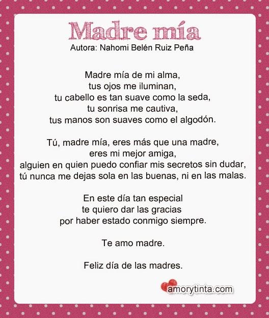 imagen con poema para mamá
