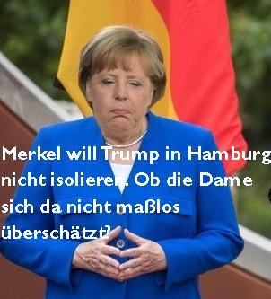 Angela Merkel überschätzt sich.