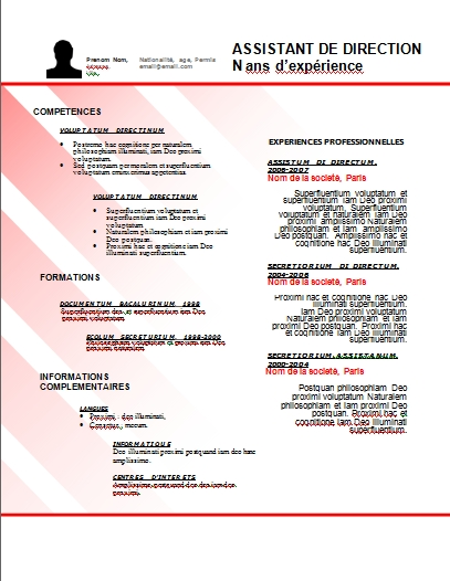 exemple de cv gendarmerie ₪¦| Modèles de CV : Télécharger 44 Modèles de CV Gratuits   Format  exemple de cv gendarmerie