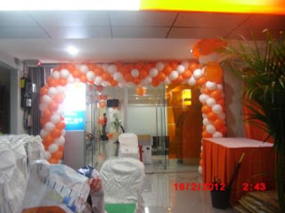 dekorasi balon gate BANK BNI
