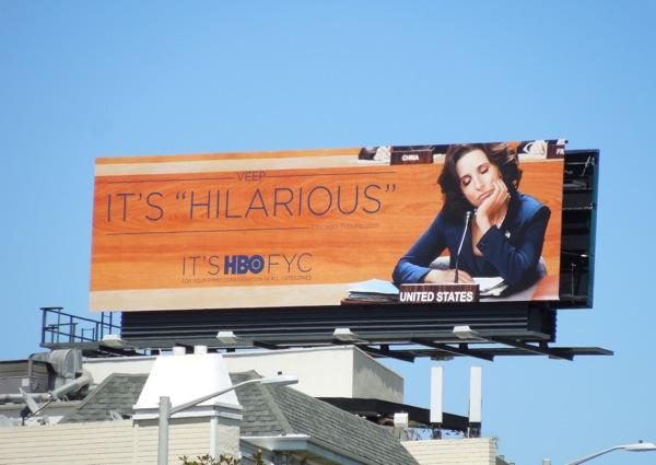 Veep Hilarious Emmy Consideration billboard
