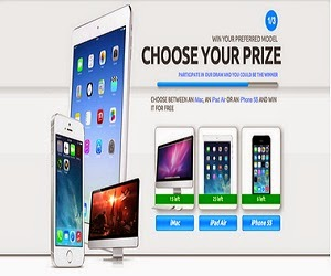 Get A Chance To Win an iMac, iPad Air OR iPhone 5S